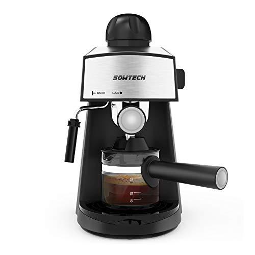 SOWTECH Macchina per Caffè Espresso e Montalatte Acciaio...
