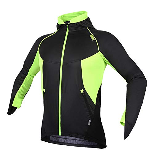 XTLXA Cycling Clothing Mountain Reflective Jacket Water Resistant Multiple Pockets Cycling Jacket Ideal for Walking Tight (Color : Green, Size : M)
