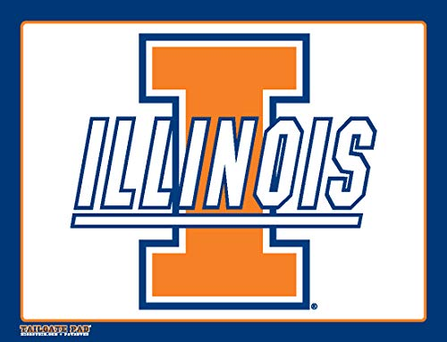 Wow!Pad Extra Large 9' x 12.5' Collegiate Tailgate Gaming Mouse Pad, Made in USA, University of Illinois