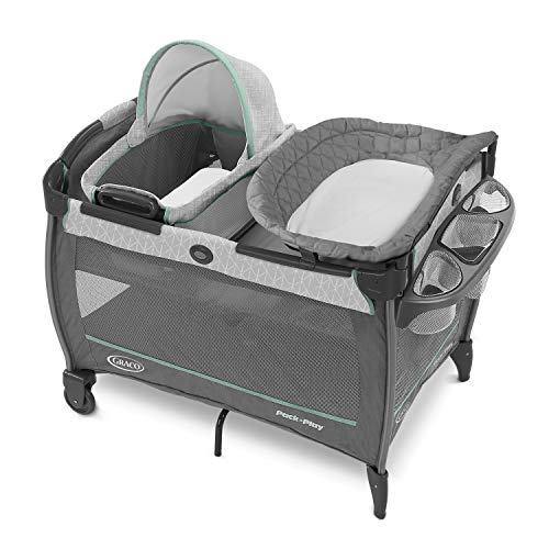 Graco Pack 'n Play Close2Baby Bassinet Playard Features Portable Bassinet Diaper Changer and More, Derby