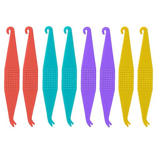 8 Pcs Dental Elastic Rubber Bands Placers for Braces, Disposable Plastic Orthodontic Elastic Placers Multi-color
