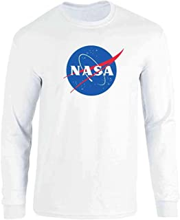 NASA Approved Meatball Logo Graphic Space Vintage Full Long Sleeve Tee T-Shirt