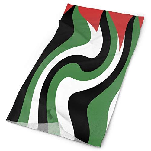 Quintion Robeson Originalidad Palestina Bandera Bandanas Diadema Cara Cowboy Bandanas Multifuctional para Fiesta Deporte al Aire Libre Ciclismo Correr