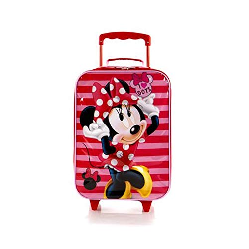 Disney Minnie Mouse Soft-side Trolley Kids Luggage Case 17 Inch