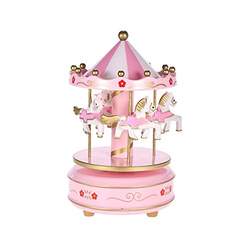 Muslady Merry-Go-Round Carousel Music Box Classical Melody Birthday Christmas Festival Musical Gift for Children Kids