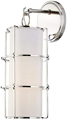 new arrival Hudson Valley Lighting 1500-PN Sovereign 1-Light LED Wall discount Sconce, wholesale Polished Nickel Finish outlet online sale