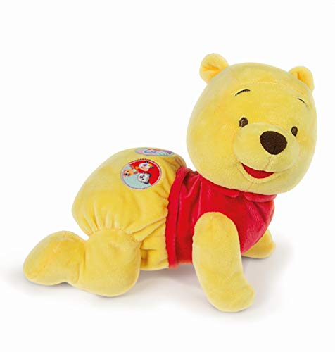 Clementoni 17260 Disney Baby – Winnie Puuh Krabbel mit Mir, kuscheliges Lernspielzeug für Baby - s & Kleinkinder, Plüschtier zur Entwicklung der Motorik, Förderung der Entwicklung
