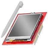 AZDelivery 2.4 pulgadas TFT LCD Touch Display Shield Modulo Pantalla Tactil SPI TFT 240x320 ILI9341 5V compatible con Arduino con E-Book incluido!