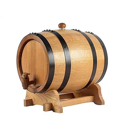 HANYU Vino Barril Dispensador Barriles De Vino, Barriles De Vino Elaborados En Casa, Barriles De Whisky, Barriles De Roble Sin Revestimiento 20L / 25L / 30L (Size : 25L)