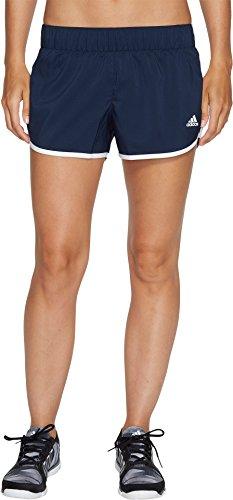 adidas Women's Running M10 Shorts 3' Inseam, Collegiate Navy/White (2017), Small