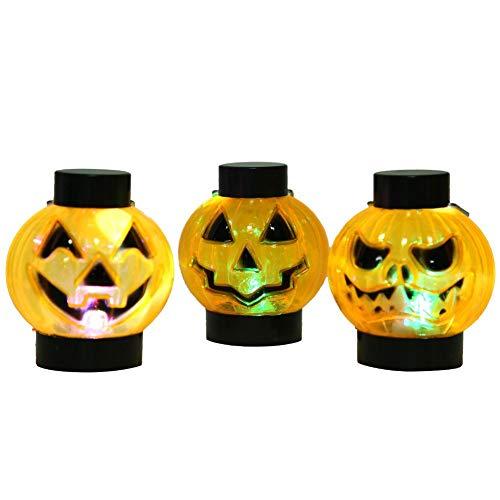 idalinya Decoración de lámpara de Calabaza, 12 Piezas de Accesorios de decoración de Fiesta, lámpara de Calabaza de Fiesta, lámpara de Calabaza portátil, Luces de decoración de Halloween para la