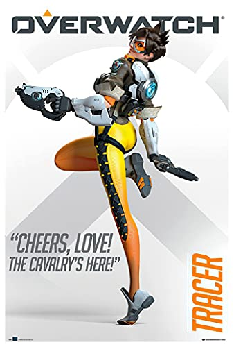 POSTER STOP ONLINE Overwatch - Gaming Poster/Print (Tracer Cheers, Love! The Cavalry's Here) (Size 24' x 36')