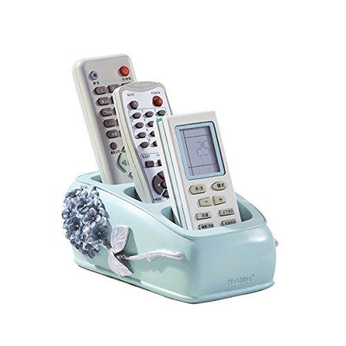 SXDHOCDZ Boîte de Rangement Organisateur De Bureau Résine Salon Creative Européenne Table Basse Climatiseur Télécommande De Stockage Rack (16 * 10 * 7 cm) (Color : Silver)