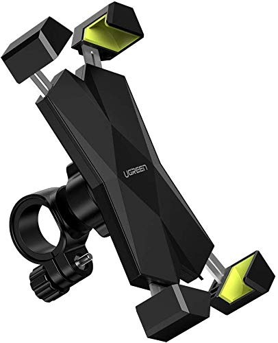 UGREEN Handyhalterung Fahrrad Handyhalter Motorrad Handy Halter 360 Grad Drehbar Fahrrad Lenker Handy Halterung Radsport Lenker kompatibel mit iPhone 11 XR, Samsung S20, Huawei P30 usw. bis 6.5 Zoll