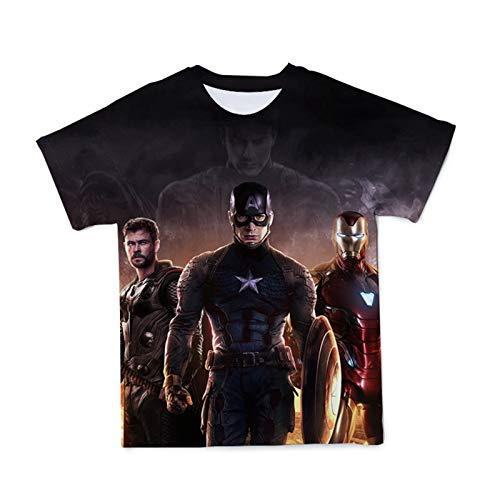 MTXD The Avengers - Camiseta de manga corta para hombre con cuello redondo y manga corta