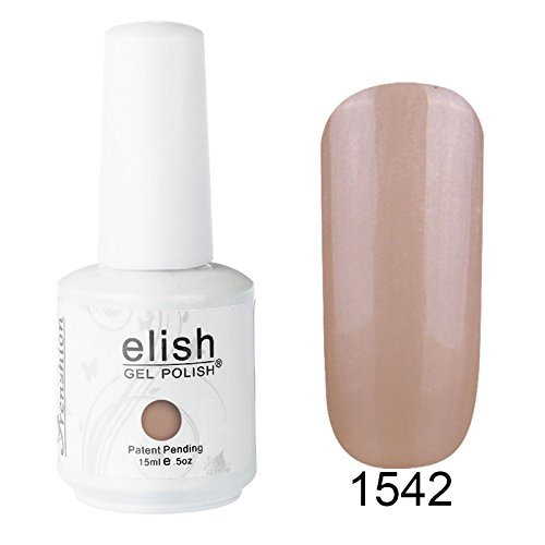 Frenshion 15ML Esmaltes de Uñas Semi Permanente Gel Polish Soak Off UV LED Nail Art Manicura Duradero 1542