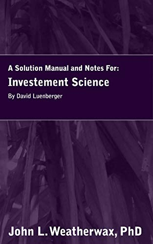 Investment science luenberger kindle rongqiao investments 101