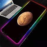 ZETIAN Anime RGB Maus Matte USB Kabel Tastatur Mousepad Led-hintergrundbeleuchtung XXL Oberfläche Pad Tastatur schreibtisch Matte-Planeta_Los 400X800X4MM