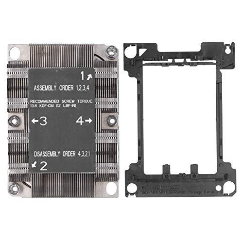 Kafuty-1 Disipador de Calor del Enfriador de CPU LGA 3647‑0 1U X11 para la Plataforma Purley, disipador de Calor de la CPU, Accesorios de refrigeración para computadora