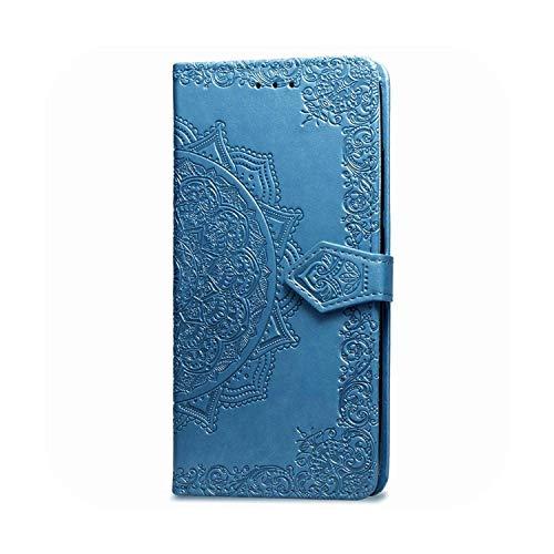 Funda de piel con tapa para LG X5 Magna K11 K30 K20 K40 K50 Q60 C40 Funda 1Blue-Joy Y30 C30