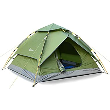 Camping Tent 3-4 Person Sportneer Automatic Instant Pop Up Waterproof Camping Hiking Travel Beach Tents For Family Groups