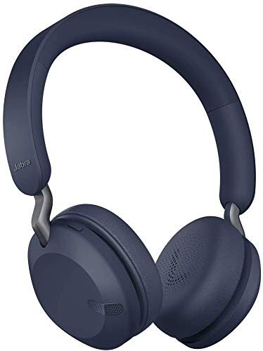 Jabra Elite 45h, Navy – On-Ear Wireless Headphones with Up to 50 Hours of Battery Life, Superior Sound with Advanced 40mm Speakers – Compact, Foldable & Lightweight Design