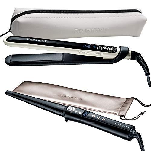Remington Styling Set Pearl + Lockenstab CI95: Haarglätter + Lockenstab kegelförmig