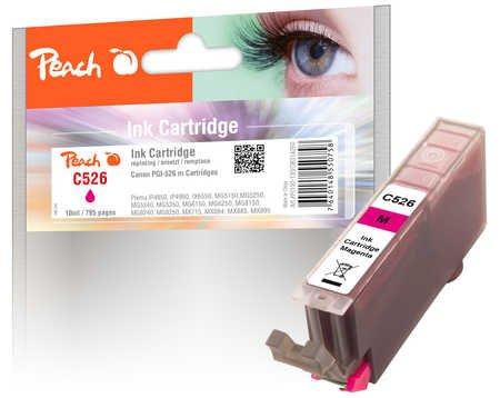 Peach XL-Tintenpatrone magenta kompatibel zu Canon CLI-526, CLI-526 m