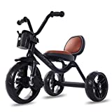 JINHH Tricycles Adultes, Tricycles, Pédales Antidérapantes Roues Silencieuses Multifonctionnel pour Enfant 6 Mois à 5 Ans,...