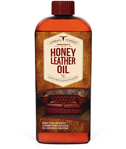 URBAN FOREST Lederöl zur Lederpflege von Sattel- & Zaumzeug I Schützt & pflegt als Lederpflegemittel Autositze Möbel Schuhe Taschen I Premium Leder Conditioner Leder-Öl Honey Leather Oil