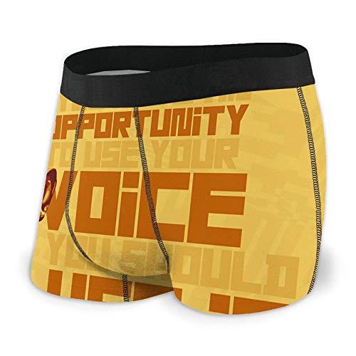Yuanmeiju Samuel L. Jackson Men's Underwear Covered Waistband Breathable SportsInspired Regular Boxer Briefs Black