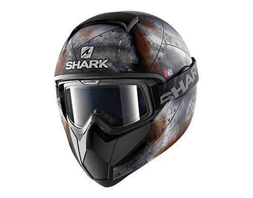 Shark - Casco integrale Vancore Flare opaco, nero antracite arancione, taglia S