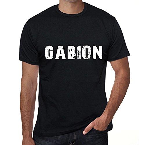 Homme Tee Vintage T Shirt Gabion XXX-Large Noir