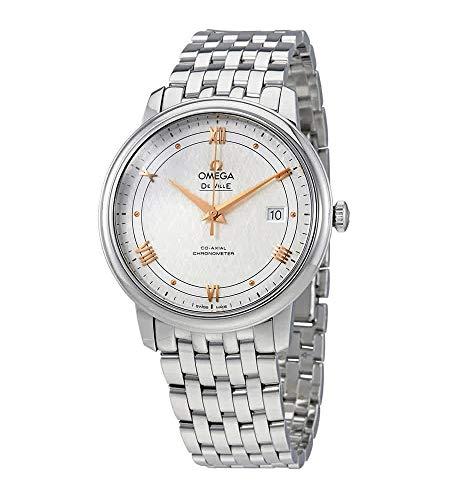 Omega De Ville Prestige Co-Axial Reloj para hombre con esfera plateada 424.10.40.20.02.004