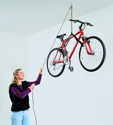 HARKEN Garage Storage Ceiling Hoist | 1 Point System | 2:1 Mechanical Advantage | Easy Lift, Single-Person, Hanger, Pulley, Bike, Ladder, Wheel Barrel, Tool