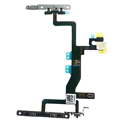 Johncase New OEM Power Volume Button Control Switch On/Off + Flash Light + Mic + Mute Connector Flex Cable w/Bracket Replacement Parts Compatible for iPhone 6s (All Carriers)