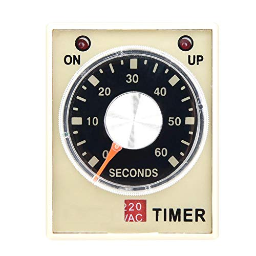 AH3-3 Retardo del temporizador de retardo, CA 220 V 50/60 Hz Relé del relé de tiempo de electricidad Interruptor de control del temporizador de retardo(60S)