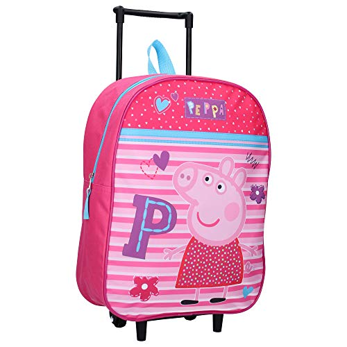 Peppa Wutz Trolley Kinderkoffer - Be Happy - Rosa