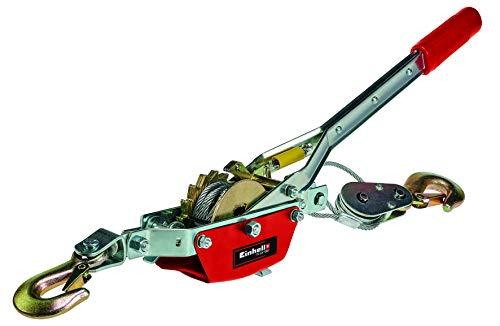 Einhell Tracción por cable con palanca manual TC-LW 1000 (cable de alambre de 2.2 m, fuerza de tracción máx. 1000 kg, incl. una polea de desvío con gancho de carga y estribo de seguridad)