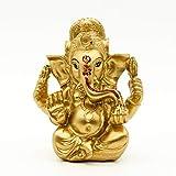 Indian God Lord Ganesh Statue - Hindu God Golden Ganesha Idol Figurines for Car Dashboard Decor - India Home Temple Mandir Pooja Item Diwali Gifts Meditation Yoga Room Altar Decoration