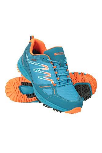 Mountain Warehouse Jupiter Zapatos Impermeables Senderismo Hombre - Calzado IsoDry, Transpirable, Plantilla EVA, Gran Agarre - Ideal para Caminar, Senderismo, Acampar Azul 42