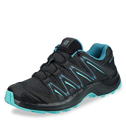 Salomon Women's XA Kuban W Trail Running Shoe, phantom/black/nile blue, 5