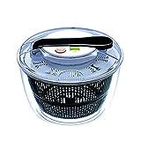 basku centrifugadora manual Centrifugadora Pequeña para Ensaladas y Vegetales Escurridor de hojas de verduras y verduras, 24 * 17 * 24 cm