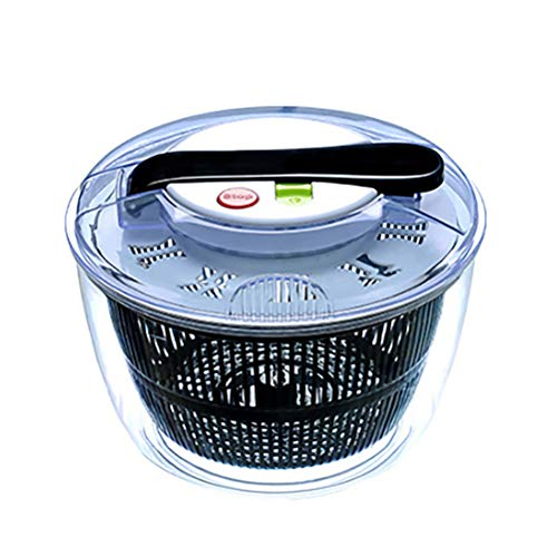 Pandao Salatschleuder, Dörrgerät, manueller Salatschleuder Gemüsedehydratisierungskorb Küchengemüsewaschmaschine - Leicht zu waschen und zu trocknen