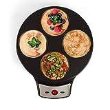 LIVOO Feel good moments - 2 in 1 Macchina crespatrice elettrica per frittelle | 4 Mini o grandi frittelle | 2 piastre antiaderenti rimovibili | 1000W DOC143 Nero