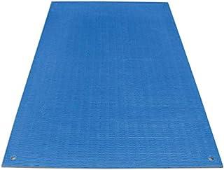 ワニ板 1100×1800mm 4枚セット 厚さ:16mm 重量:5kg 色:ブルー ワニ印の養生敷板。発泡再生ポリエチレン製なので腐らず、錆びません!樹脂製 WANIBAN(日大工業)
