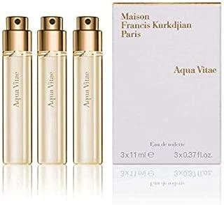 Maison Francis Kurkdjian Aqua Vitae Eau De Parfum 3X0.87oz/3X11ml New In Box