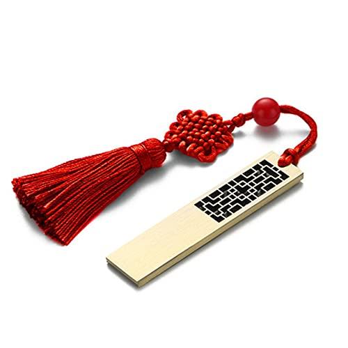NewIncorrupt Unidad Flash USB de diseño de tracería de Ventana China Ligera, impulsión de Pluma de Metal a la Moda, diseño de Nudo Chino, Pendrive