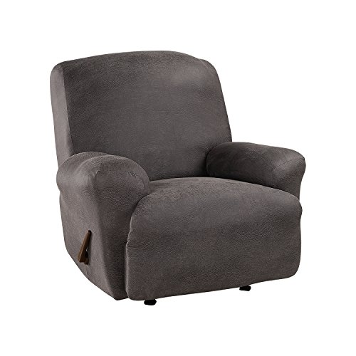 SureFit Ultimate Stretch Leather - Recliner Slipcover - Antiqued Slate