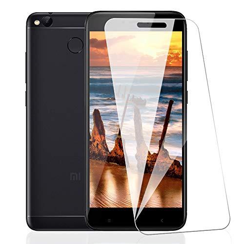 [3 Pack] Amonke Protector de Pantalla para Xiaomi Redmi 4X Cristal Templado, Plana Incompleta Cobertura, 9H Dureza Sin Burbujas 2.5D curvo Borde Vidrio Templado Screen Protector para Xiaomi Redmi 4X